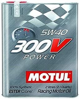 Motul 300V Power 5W40 Racing Motor Oil 2 Liter Can (Pack of 4)