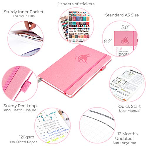 Product Image 6: Clever Fox Budget Planner – Expense Tracker Notebook. Monthly Budgeting Journal, Finance Planner & Accounts Book to Take Control of Your Money. Undated – Start Anytime. A5 Size Light Pink Hardcover