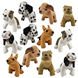5 Inch Plush Puppy Dogs - Pack of 12 - Stuffed Animals from Playko - Cute Stuffed Puppy Toys - Assorted Design Pound Puppies - Small Stuffed Dogs for Stocking Stuffers Puppy Plush Party Favors (2)