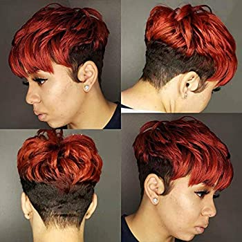 Amazon Com Beisd Short Colored Hair Wigs For Black Women Short Hairstyles For Women Newest Short Colorful Hairstyles 89482 Beauty