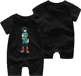LOUHART Unisex Baby O-Neck Short-Sleeve Bodysuit Spirited Away Funny Crawling Clothes Black