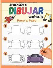 Aprender a Dibujar Vehículos Paso a Paso: varios vehículos para reproducir y colorear - libro de dibujos a color para niños y principiantes - regalo original