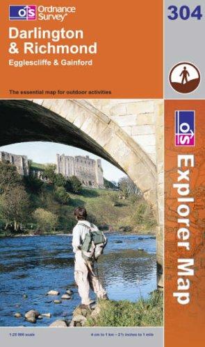 OS Explorer map 304 : Darlington & Richmond