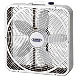 Lasko 3 Speed Weather Shield Performance 20' Box Fan w/Easy Carry Handle, White