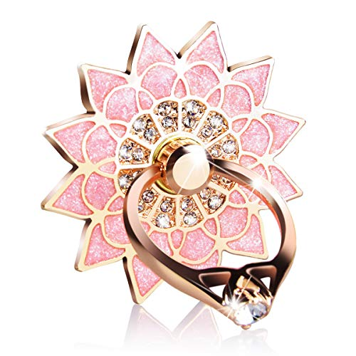 We Love Hülle Ring Handy Aufkleber Blumen Handy Halter 360 Grad Ring Finger Halterung Handy Stent für alle Smartphones und Tablets