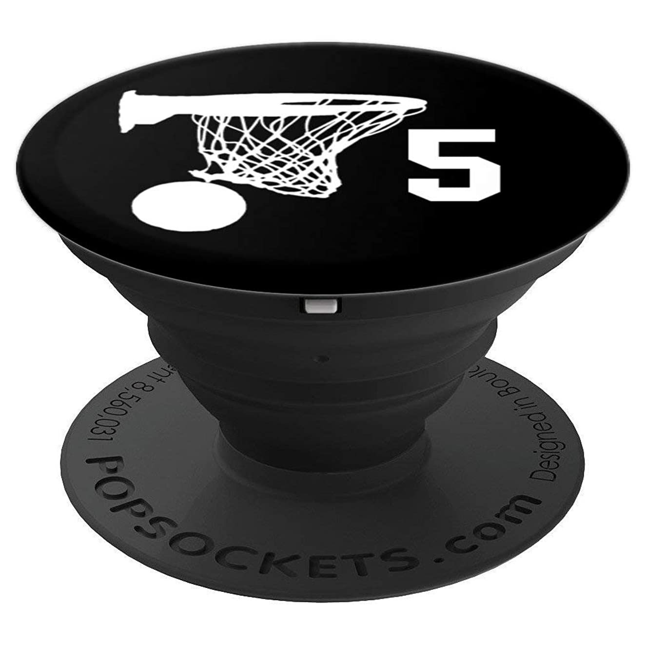 Number 5 , Basketball Gifts for Men, Boys, Teens, Women, - PopSockets Grip and Stand for Phones and Tablets