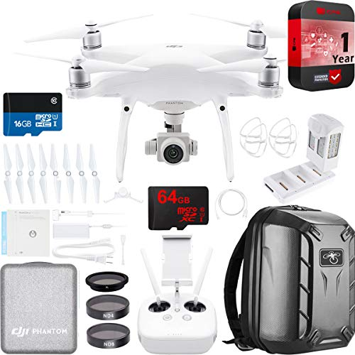 DJI Phantom 4 Pro Quadcopter Drone Camera with Battery, Charging Hub,...
