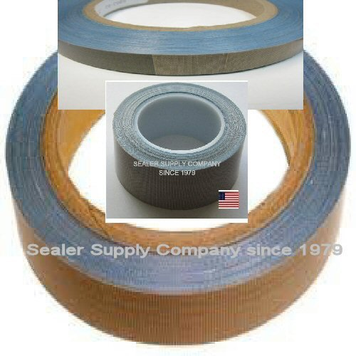 """Heat Tape PTFE 10 yds Length x 3/4"""" Width, 3 mil Thick, Brown Acrylic Adhesive Teflon PTFE Glass Cloth Backing Adhesive Tape,Shrink WRAP Machines - Printers"""
