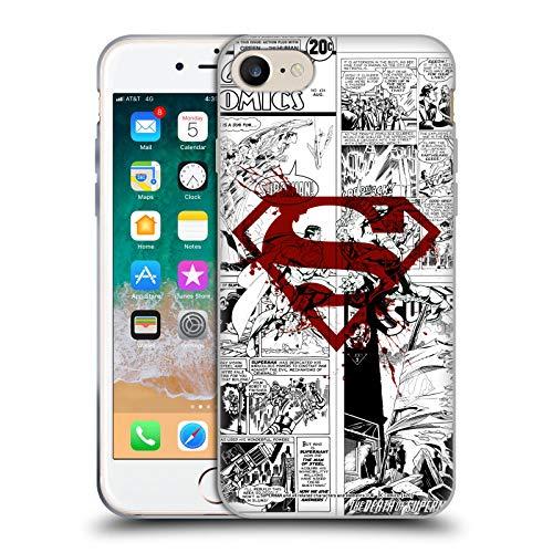 Head Case Designs Oficial Superman DC Comics Splatter Logo Rojo Arte del cómic Carcasa de Gel de Silicona Compatible con Apple iPhone 7 / iPhone 8 / iPhone SE 2020