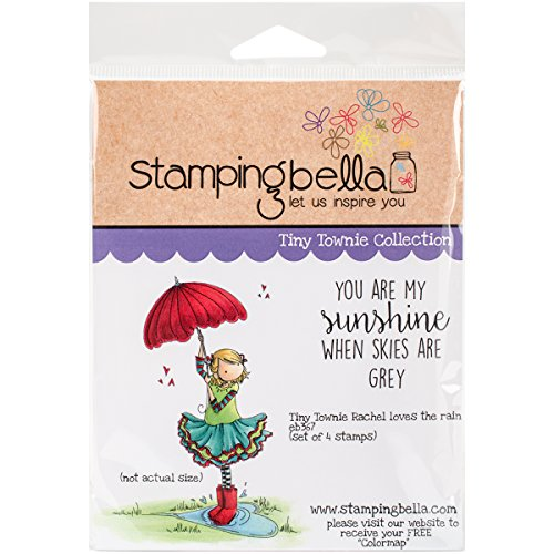 Unbekannt Stamping Bella selbst Stempel 6,5x 11,4Tiny Townie Rachel Loves The Regen, Acryl, Mehrfarbig