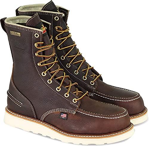 "Thorogood 1957 Series 8"" Steel Toe Waterproof Work Boots For Men - Premium Breathable Moc Toe..."