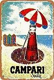 None Branded Campari Soda Targa in Metallo Decorazioni murali retrò in Metallo Poster Dipinti artistici Decorazione