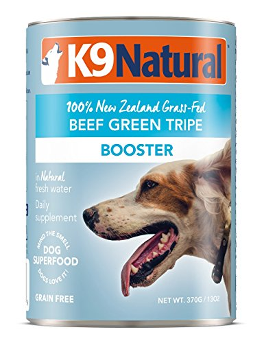 K9 Natural BPA-Free & Gelatin-Free Canned Dog Food Supplement Booster, Beef Green Tripe 13oz 12 Pack