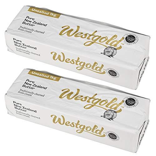 グラスフェッドバター 2kg(1kg×2個)ニュージーランド産 無塩 無添加 バター Westgold