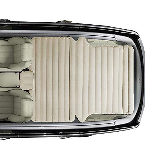 Sinbide Auto SUV MVP Luftmatratze|Gästebett|Luftmatratze Bett|Isomatte Camping selbstaufblasbar aufblasbarmit Pumpe (cremefarbig02)