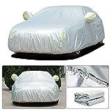 Tuqiang Telo Copriauto per V olkswagen Golf 7 Impermeabile Pieghevole Anti UV Copriauto con Strisce Fluorescenti Tessuto Oxford (435 * 180 * 160CM)