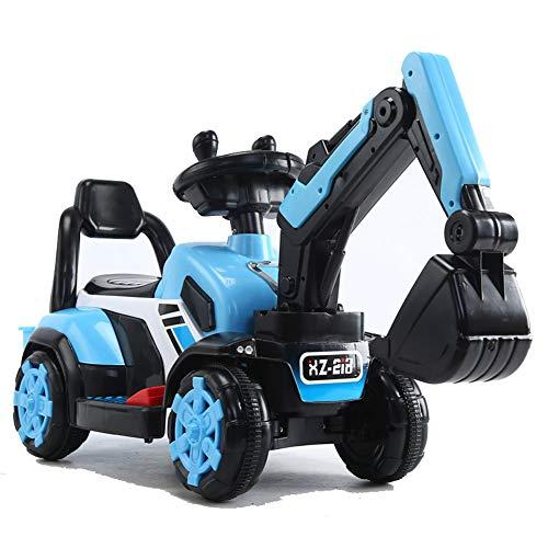 MSHK Großes Bagger Spielfahrzeug Sitzbagger Für Kinder-Toller Bagger Für Draußen Mit Traktor Kinder Geschenk,Blau