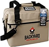 Backyard Republic SoftPak Cooler by Bison 12 Can Beige