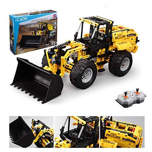 HYZM Technik Radlader Modell Bausteine, 491 Teile 2.4G 4CH Ferngesteuert Frontlader, Kompatibel mit Lego Technic