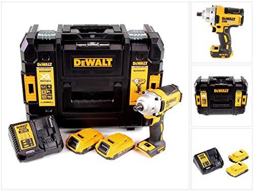 """DeWalt DCF 894 D2 - Atornillador de impacto inalámbrico (18 V, 1/2"""", 2 baterías de 2,0 Ah, cargador y TSTAK)"""