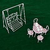 CUTICATE 1:12 Skala Puppenhaus Miniatur Gartenmöbel Metall Schaukel Schaukelstuhl - Weiß