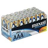 Pile alcaline durevoli Consigliate per i dispositivi con un consumo di batteria limitato/costante 32 pezzi