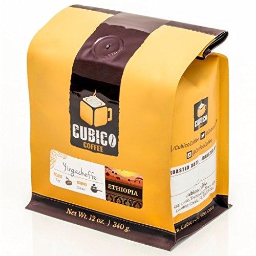 Ethiopia Yirgacheffe Coffee - Ground Coffee - Freshly Roasted Coffee - Cubico Coffee - 12 Ounce (Single Origin Ethiopian Coffee)