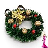 Rocita 6 cm Mini Weihnachtskranz Miniatur Kranz Puppenhaus Garten Dekoration Puppenstube Weihnachten...