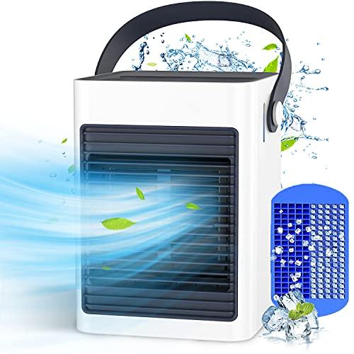 KOXXBASS Climatiseur Mobile Silencieux, Mini 3 en 1 Climatiseur Portable, Personnel Refroidisseur d air de 350 ml, Ventilateur de Climatiseur avec 3 Vitesses pour Chambre Bureau Camping