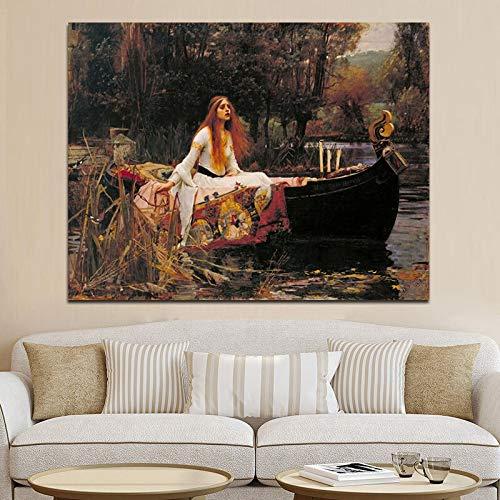 Sanzangtang Portrait voor dames, schilderijen, zonder lijst, Scandinavische wand in Scandinavische woonkamer met poster en print op canvas