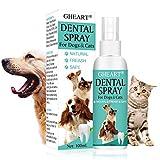 GHEART Zahnpflege Hunde, Dentalspray für Hunde und Katzen, zahnspray Hund, 100% Natürliche Zahnpflegespray, Zahnsteinentferner & gegen Mundgeruch bei Hunden