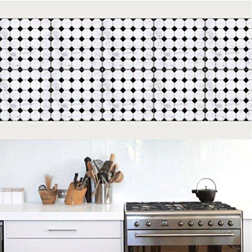 MINRAN DECOR BJ Art de tuiles Mural - Adhésif carrelage   Sticker Autocollant Carrelage - Mosaïque carrelage Mural Salle de Bain et Cuisine   - 20x20 cm - 10 pièces TS004