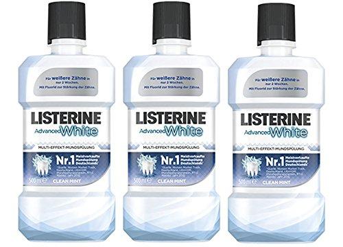 Listerine Advanced White, 3er Pack (3 x 500 ml)