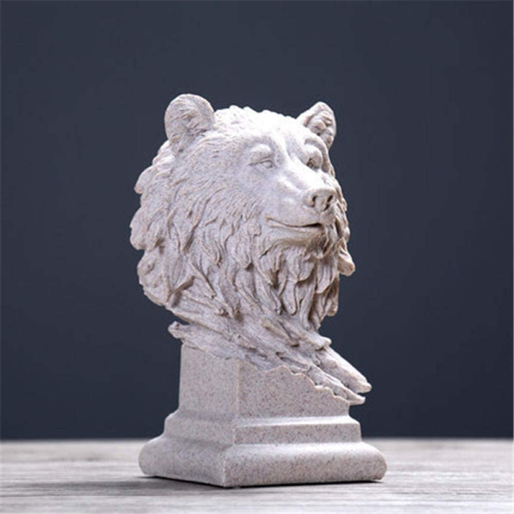Statues Sculpture Head 2021 model Sculptures Busts Wolf Decoration Cheap super special price Creative