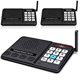 Intercoms Wireless for Home - Long Range 1 Mile Wireless Intercom System with 10 Channel 3 Code for Business House Office – Room to Room Intercom Clear Sound Home Communication System (3 Pack)
