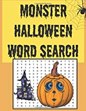 Monster Halloween word search: Happy Halloween Learning, A Scary Fun Workbook, Large Print Challenging Puzzles About Hallo...