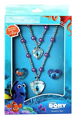 Joy Toy 41070 Finding Dory Necklace/Bracelet and Two Rings Jewellery Set in Gift Wrap