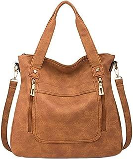 TOOGOO Retro European And American Fashion Women'S Bag Shoulder Diagonal Bag Casual Large Capacity Handbag Brown