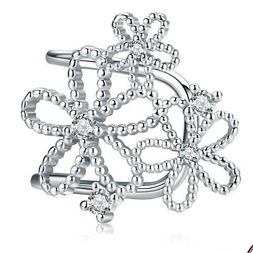 Bowknot con Abanico, Pendientes Colgantes para Mujer, joyería de Compromiso de Boda, Plata esterlina 925, joyería de Moda para el oído