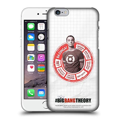 Head Case Designs Licenza Ufficiale The Big Bang Theory Sheldon Attributi Personaggi Cover Dura per Parte Posteriore Compatibile con Apple iPhone 6 / iPhone 6s