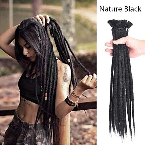 Handmade Dreadlocks Dreads Haarverlängerungen Hair Extensions Synthetik Braiding Häkeln für Afro Damen Herren Haar Ombre Faux Locs Reggae Hair