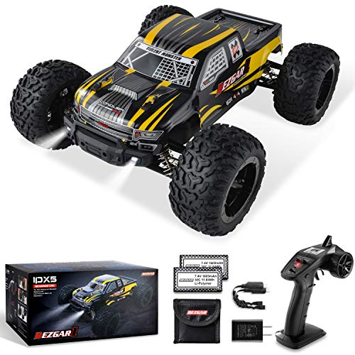 BEZGAR 1 Hobbyist Grade 1:10 Scale Remote Control Truck, 4WD High Speed 42 Km/h All Terrains Electric Toy Off Road RC...