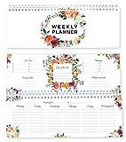 Agenda settimanale con fiori / agenda senza data / calendario da tavolo / agenda 2019 / fo...