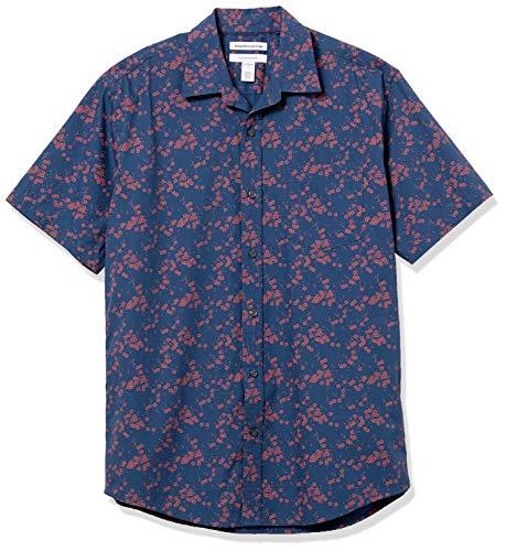 Amazon Essentials Regular-Fit Short-Sleeve Shirt Camicia, Floreale, L
