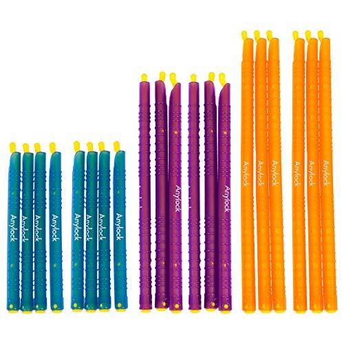 Les Baguettes Anylock (20pièces) réutilisable Zip, Lui, serrure, Lui, Joint Il Sacs, aliments frais Sac de rangement Clip–Bleu/orange/violet