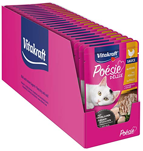 Vitakraft Katzenfutter Nassfutter Poésie Deli- Sauce Pouch Beutel 23x85g