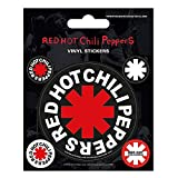 Set of 5 Genuine Red Hot Chili Peppers Star of Affinity Vinyl Stickers Gadget Decals