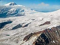 NC88 ランゲル航空写真氷河山脈ランゲルセントイライアス国立公園DIY5Dダイヤモンド絵画番号別ユニークキットホームウォールデコレーションクリスタルラインストーンウォールデコレーションクロスステッチ12x16インチ(フレームレス)