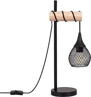 LEDKIA LIGHTING Lampe à Poser Monah Smart WiFi avec Variateur 500x140x210 mm Noir E27 Aluminium - Bois pour Décoration Sal...