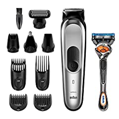 Braun 10-in-1-Trimmer MGK7220 Herren-Barttrimmer, Bodygrooming-Set